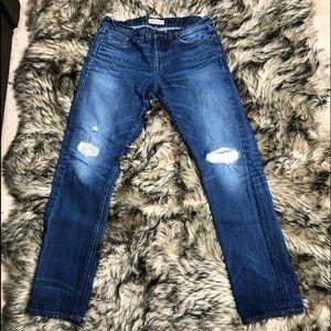 Madewell Rivet & Thread Distressed jeans